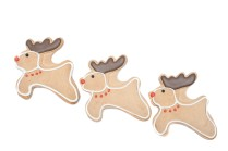 Three reindeer Christmas cookies