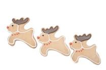 Three reindeer Christmas cookies